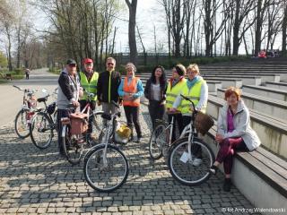 05.04.2019 r. Piękna pogoda sprzyja sekcji rowerowej do dalekich podróży rowerowych.