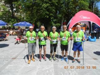 07.07.2018 r. W tym dniu odbyły się zawody o Puchar Polski Nordic Walking  w Polanicy Zdroju, w którym brały udział osoby z OUTW   na 5 km.  Należy zaznaczyć ,że mimo nie zajęcia miejsc na pudle wszyscy poprawili swoje czasy w porównaniu do lat ubiegłych, a miejsca od 5-go (Irena) do 10-go w swoich grupach wiekowych to bardzo dobre wyniki.