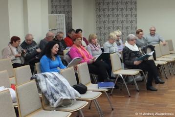 10.01.2019 r. Miłośnicy sekcji piosenki biesiadnej na kolejnym spotkaniu.
