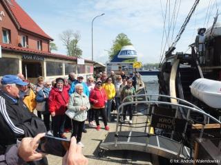 19.05.2021 r. W dniu dzisiejszym słuchacze OUTW będąc na turnusie rehabilitacyjnym w Darłówku wybrali się statkiem Król Eryk I w rejs po morzu.