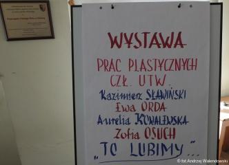 22.02.2019 r. Wystawa prac sekcji plastycznej.