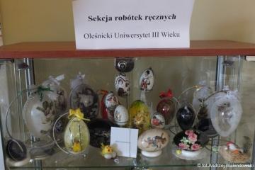 03.04.2017 r. Wystawa prac Sekcji Robótek Ręcznych w bibliotece przy ul. Reja.